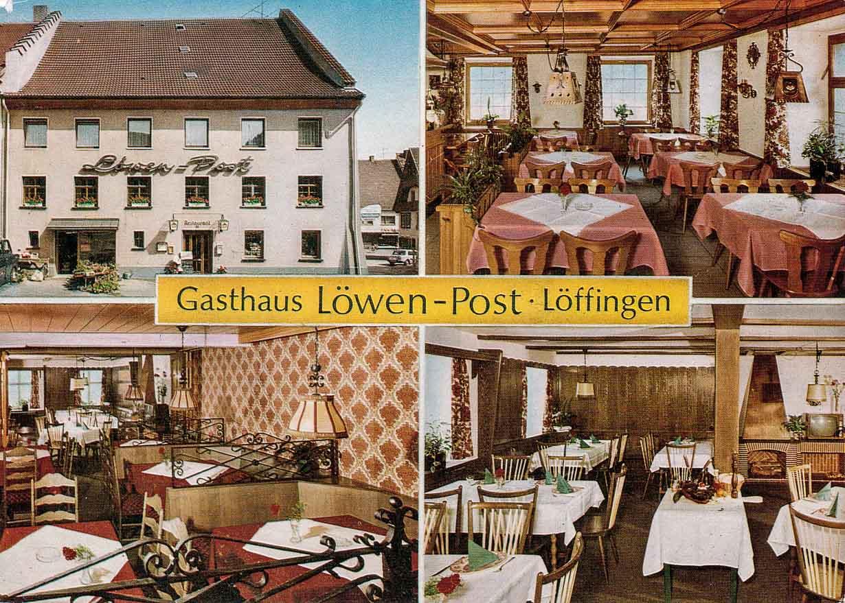 Mehrbildkarte vom Gasthaus »zum Löwen«, ca. 1980