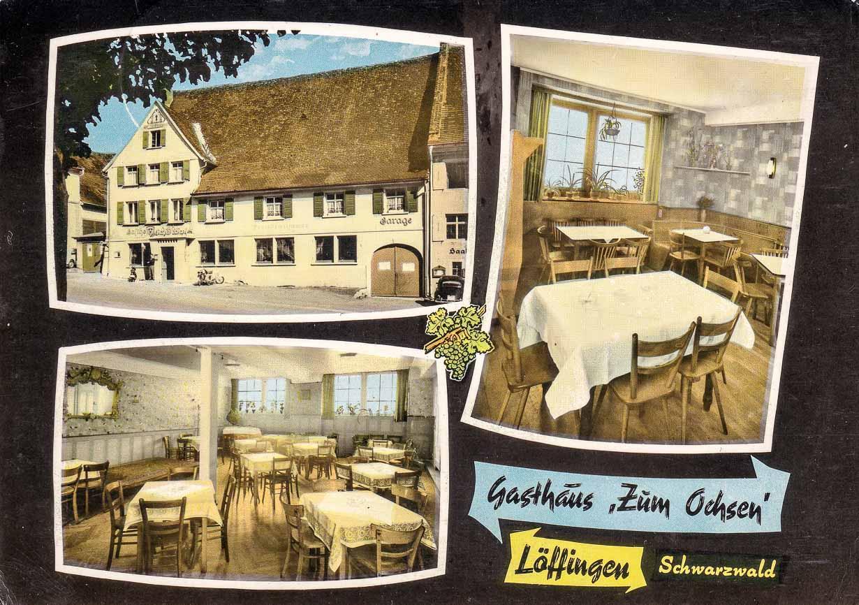 Mehrbildkarte vom Gasthaus »zum Ochsen«, ca. 1968-1970
