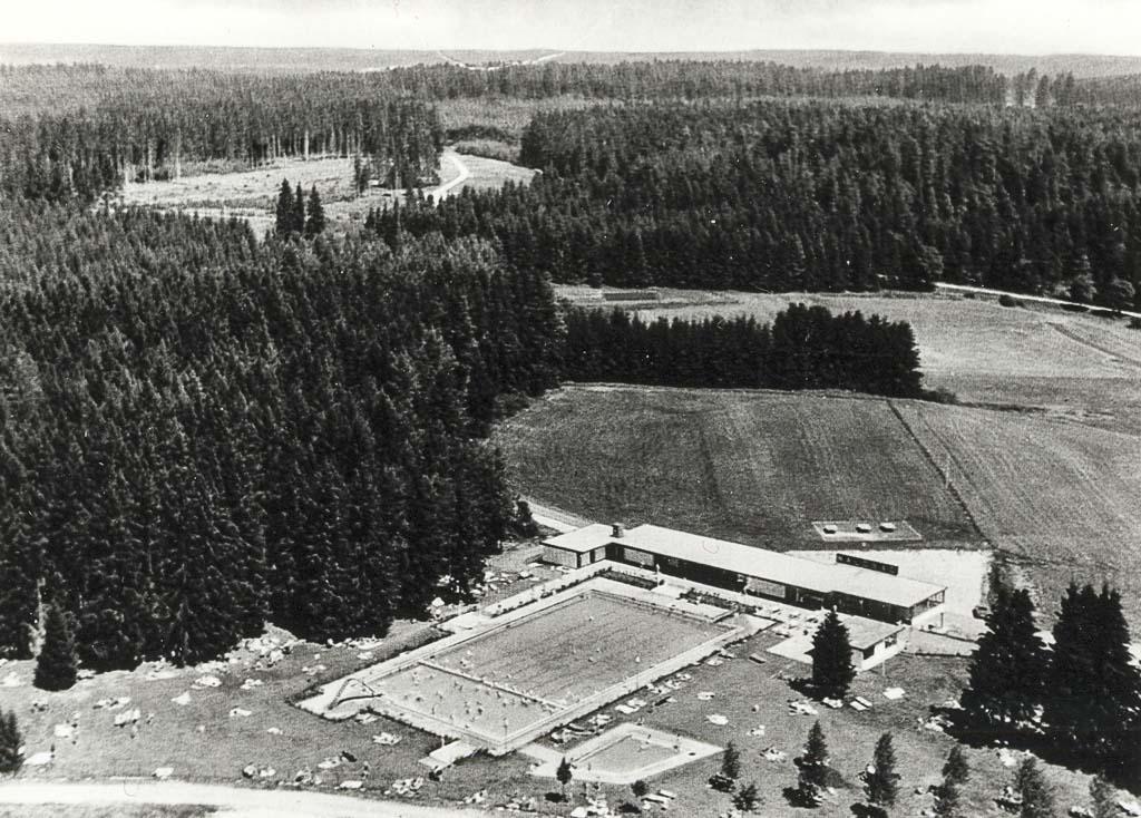 Waldbad, Luftaufnahme, ca. 1970-1975