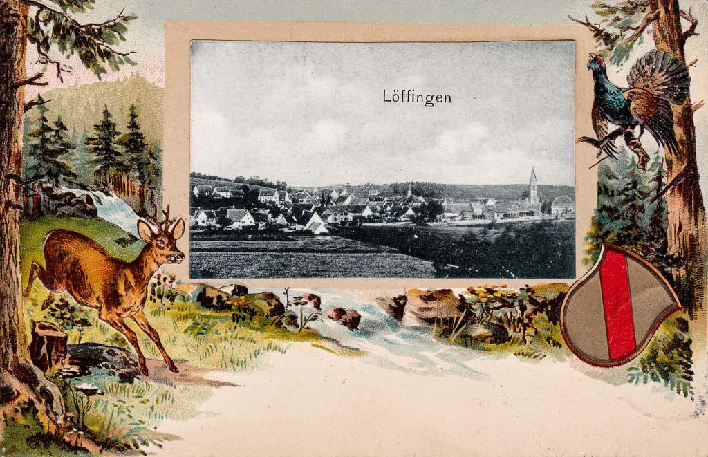 Postkarte mit Waldidyll, ca. 1901-1909