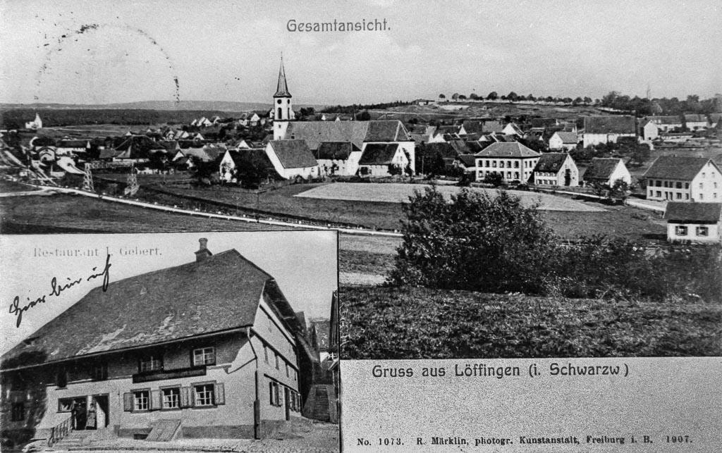 Mehrbildkarte mit zwei Ansichten, 1907