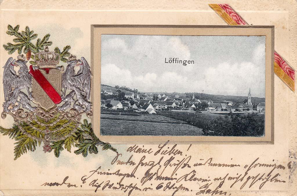 Postkarte mit badischem Wappen, ca. 1901-1909