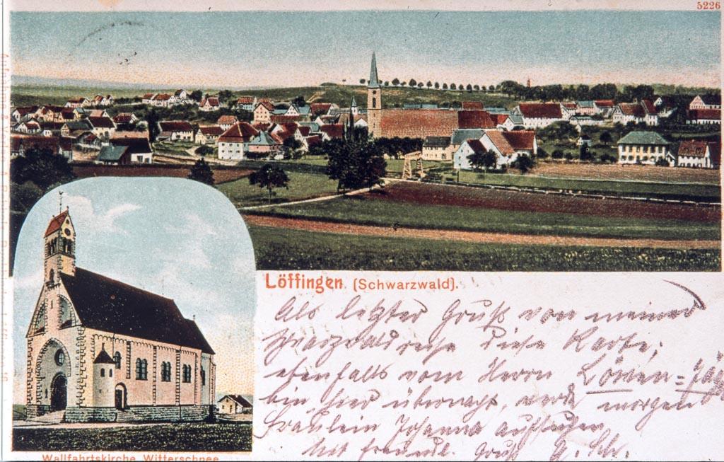 Mehrbildkarte mit zwei Ansichten, ca. 1903-1905