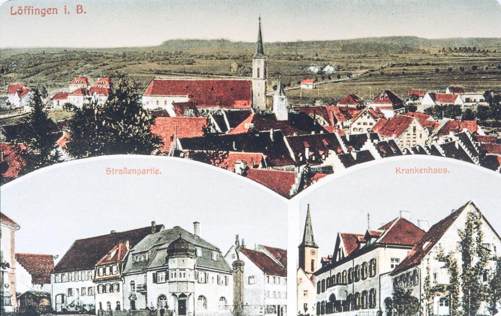 Mehrbildkarte mit drei Ansichten, ca. 1925