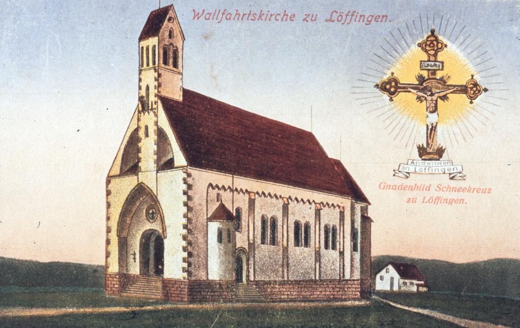 Postkarte »Wallfahrtskirche zu Löffingen«, ca. 1900