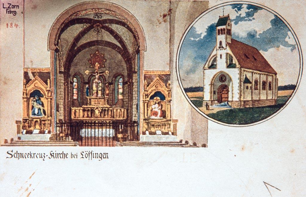 Mehrbildkarte mit zwei Ansichten vom Witterschneekreuz, ca. 1900