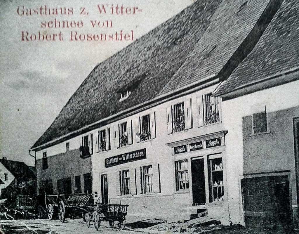 Gasthaus »Witterschnee« in der Maienlandstraße, Ausschnitt, ca. 1908