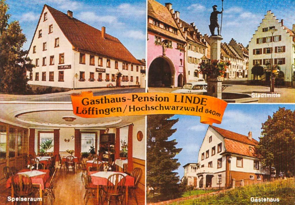 Mehrbildkarte vom Gasthaus »Linde«, ca. 1965-1975