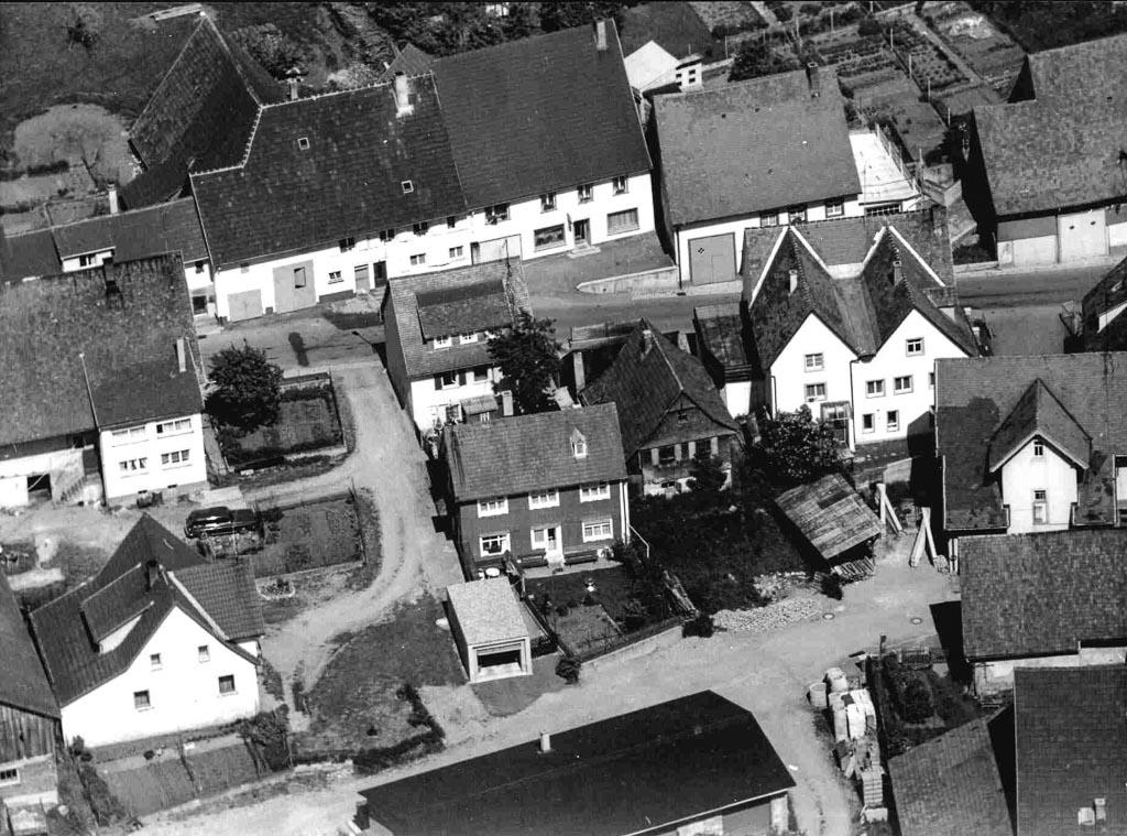 Luftbild von der Maienlandstraße, ca. 1970-1980