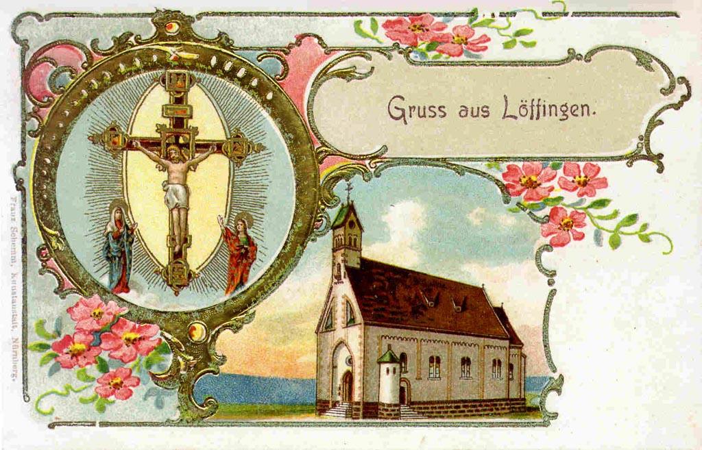 Mehrbildkarte mit Ansichten vom Gnadenkreuz und der Witterschneekirche, ca. 1900