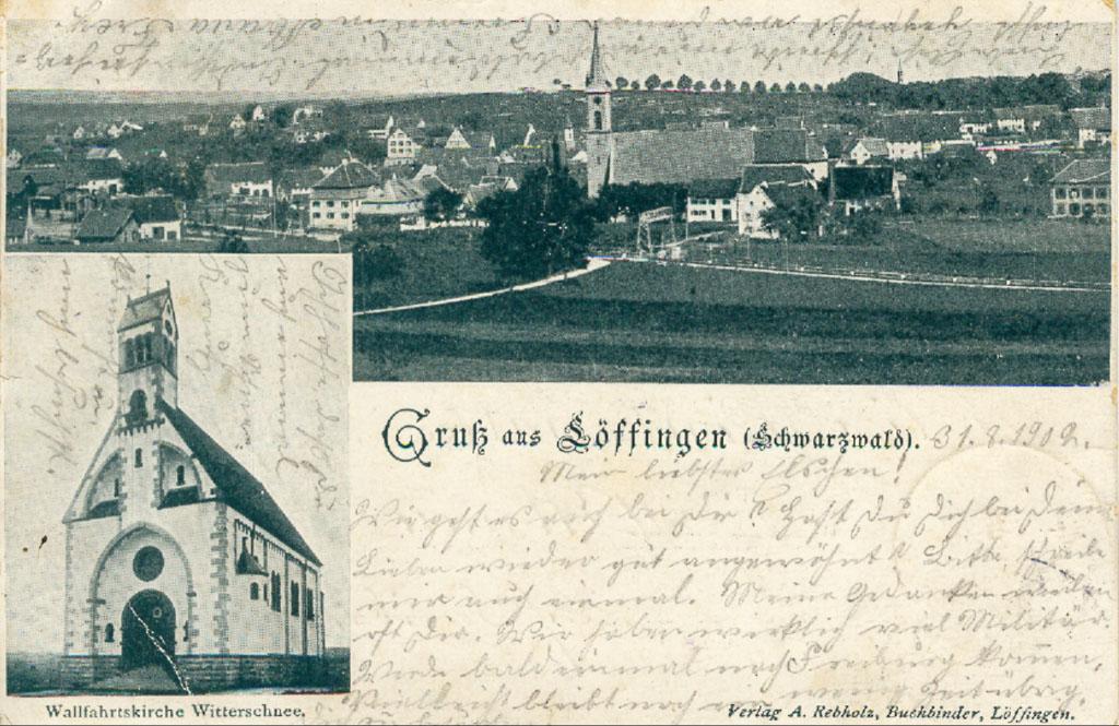 Mehrbildkarte mit Gesamtansicht und Witterschneekirche, 1901/02