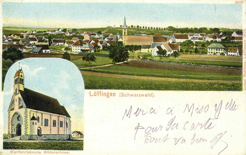 Mehrbildkarte mit Gesamtansicht und Witterschneekirche, 1906