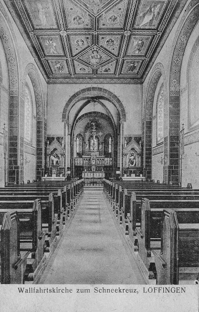 Innenraum der Witterschneekirche, ca. 1920-1930