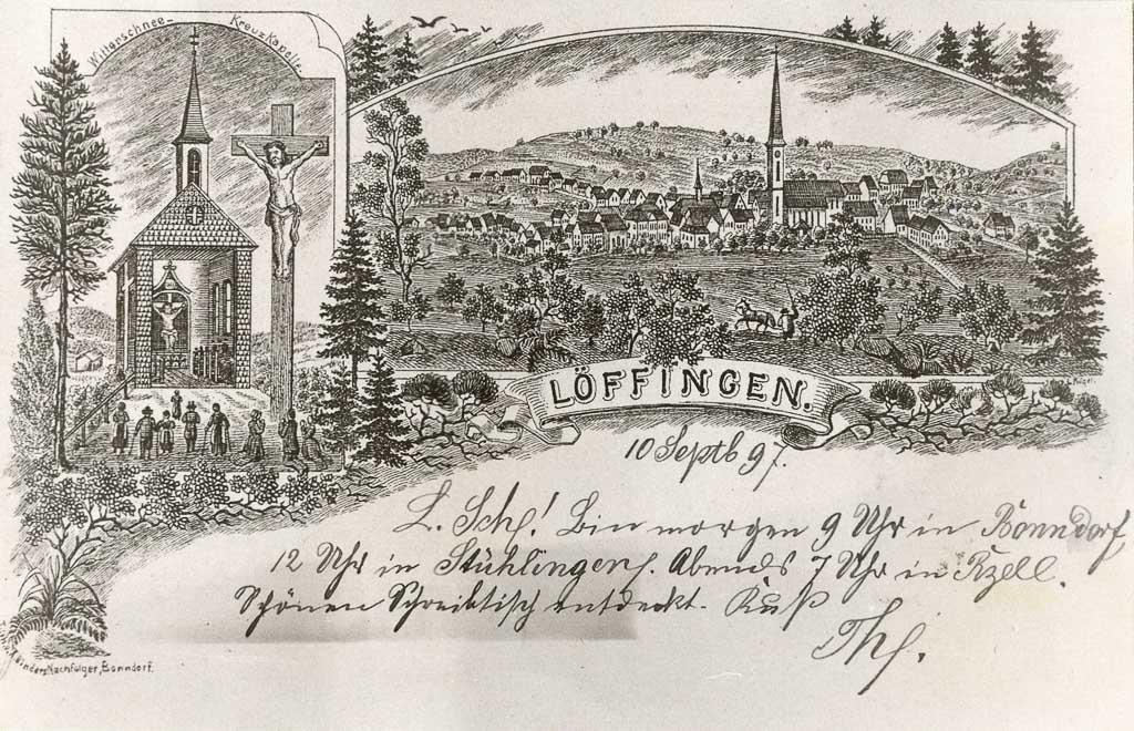 Mehrbildkarte mit Witterschneekapelle und Gesamtansicht, ca. 1897