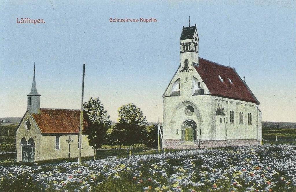 Alte Kapelle und neue Witterschneekirche, ca. 1900
