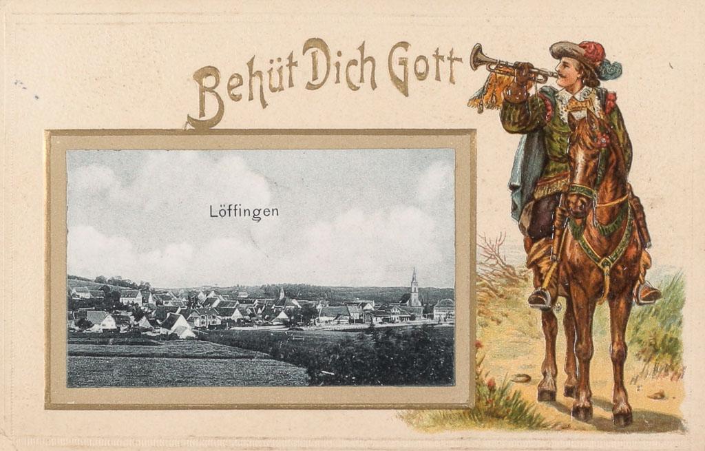 Postkarte mit Herold, ca. 1901-1909