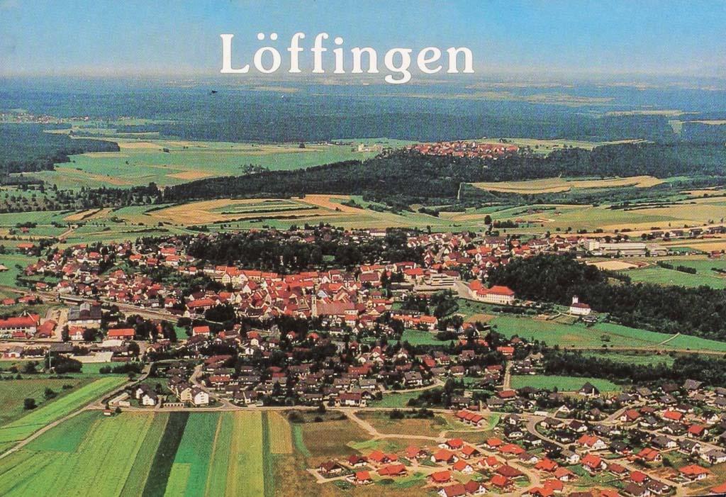 Luftbild mit Neubaugebiet Reichberg, ca. 1985