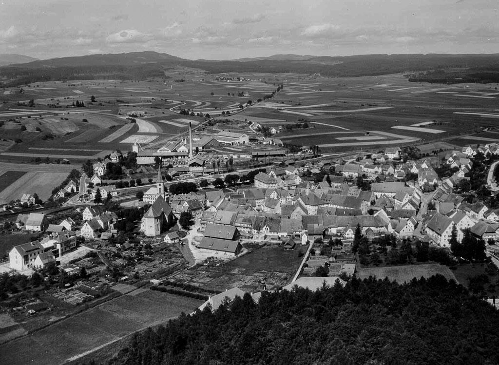 Luftbild von Osten, ca. 1957