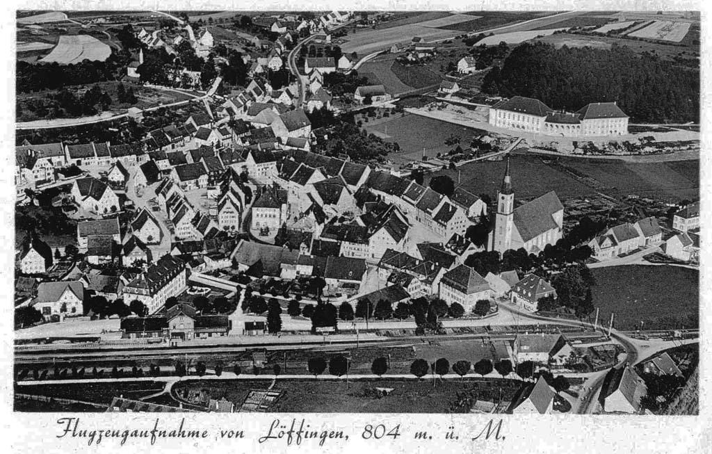 »Flugzeugaufnahme von Löffingen«, ca. 1935
