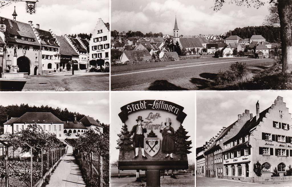 Mehrbildkarte mit fünf Ansichten, ca. 1955-1960