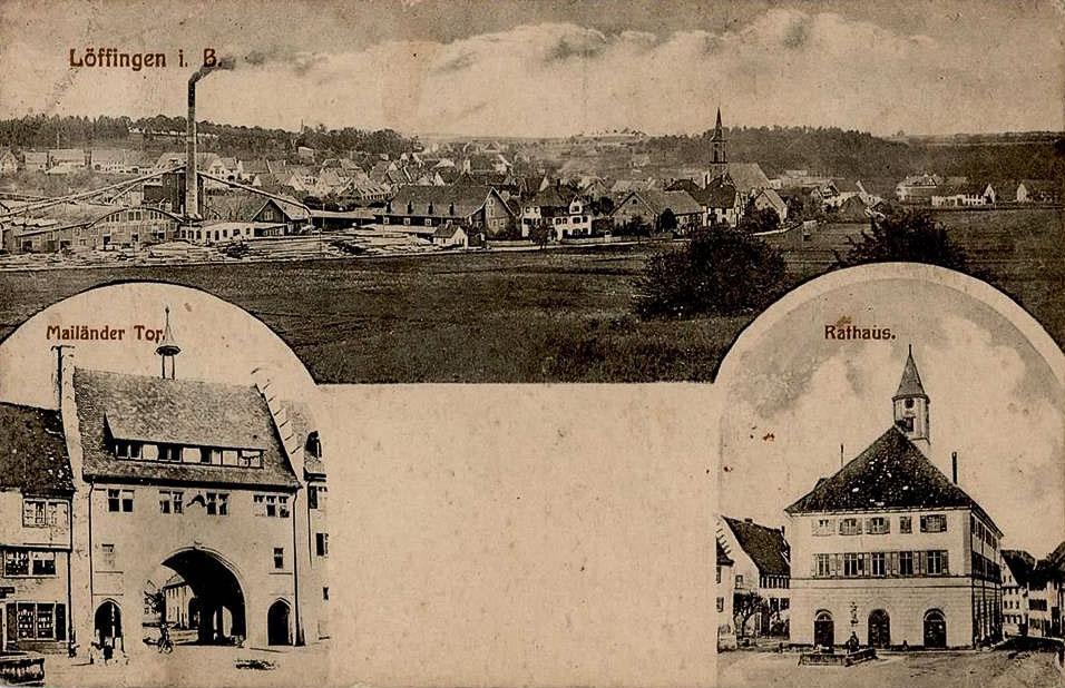 Mehrbildkarte mit drei Ansichten, ca. 1923-1925
