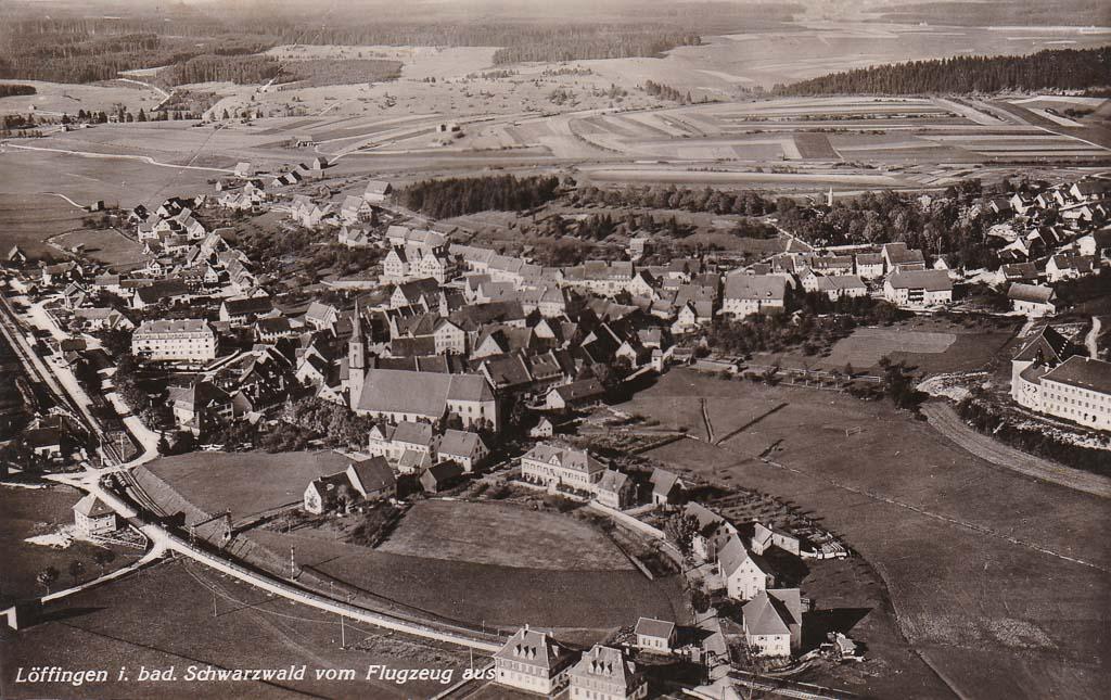 Luftbild auf das Städtchen, ca. 1933/34