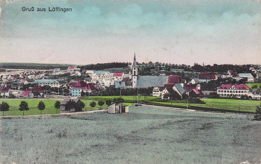 Blick vom Reichberg auf das Städtchen, ca. 1925