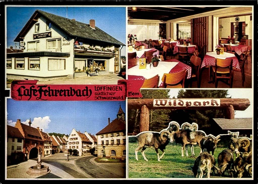 Mehrbildkarte vom Café Fehrenbach in der Scheffelstraße, ca. 1975