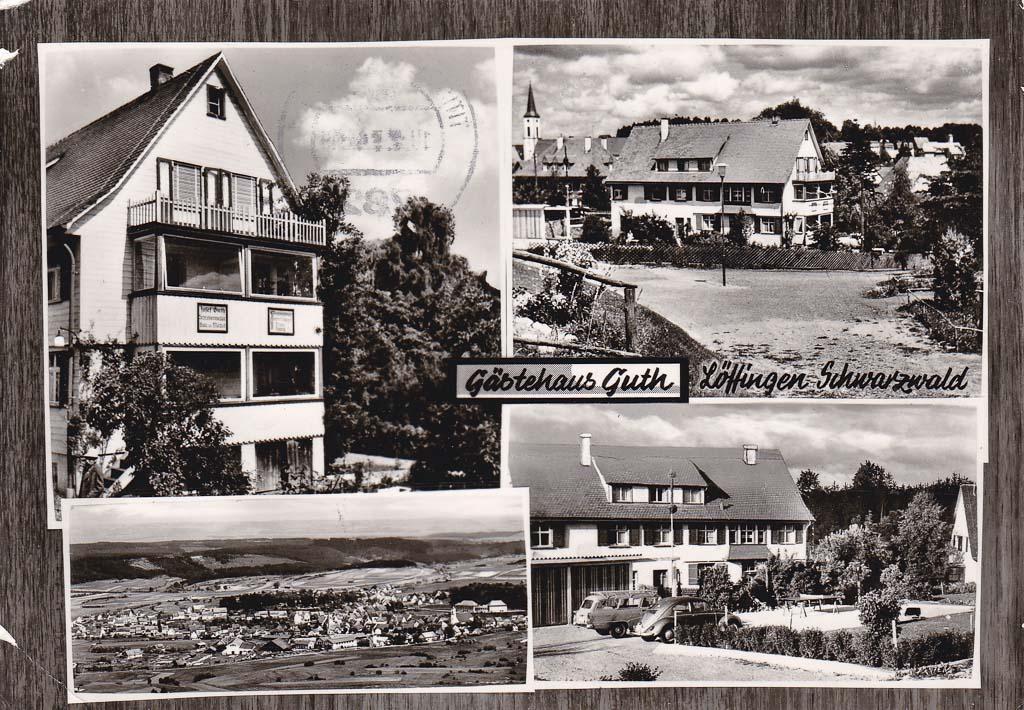 Mehrbildkarte vom Gästehaus Guth in der Gartenstraße, ca. 1960-1965