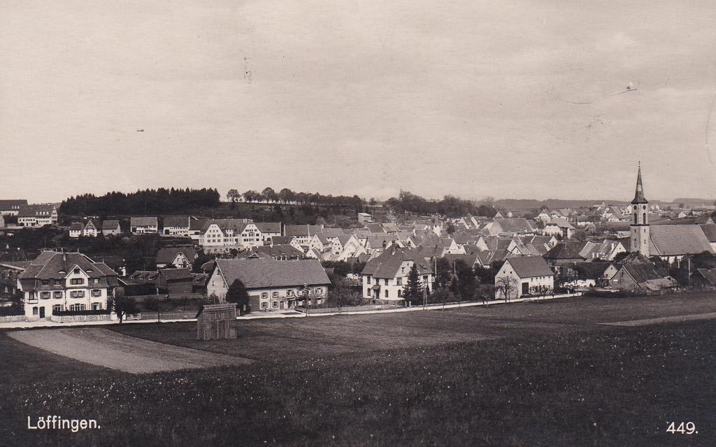 Blick von der »Breiten« auf das Städtchen, ca. 1923-1929