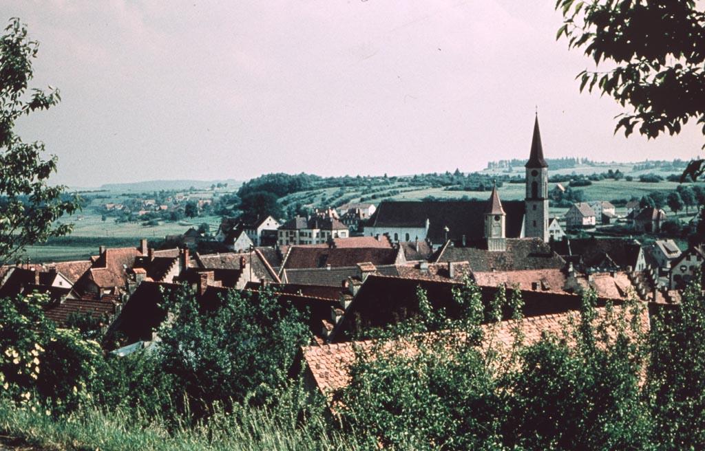 2 Fotos: Blick vom Alenberg auf das Städtchen, 1961