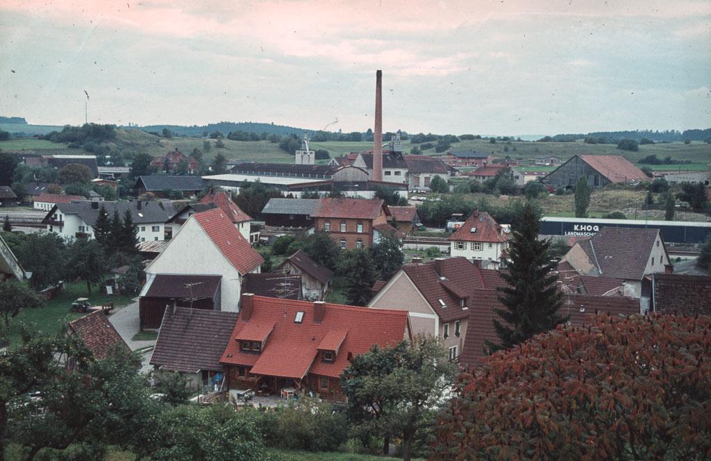 Blick vom Alenberg in Richtung Sägewerk, 1984