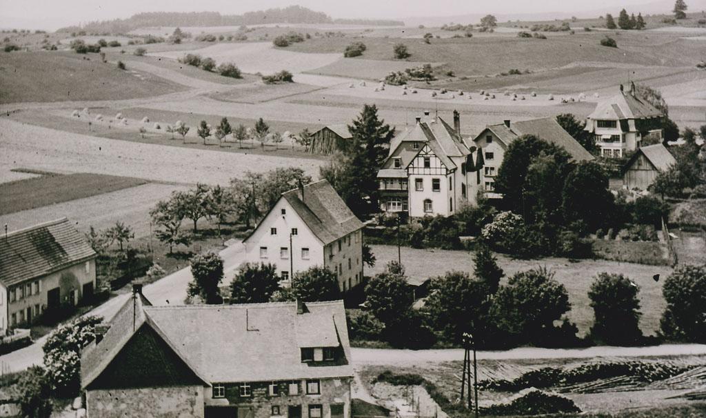 Blick auf die Rötenbacher Straße und die »Breiten«, ca. 1960