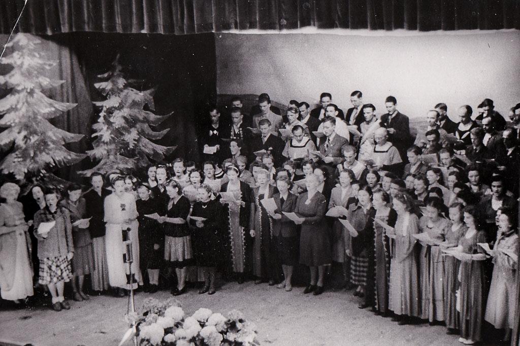 Chor in der Festhalle bei der Stadterhebung, 27. Mai 1951