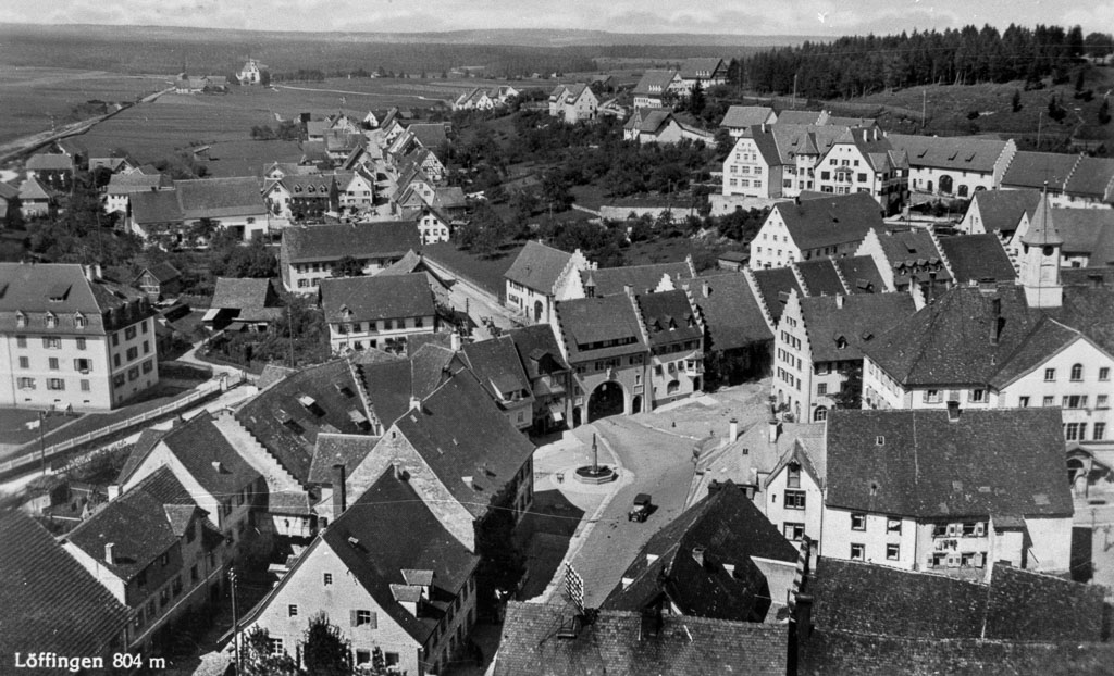 Blick vom Kirchturm ins Maienland, ca. 1930-1934