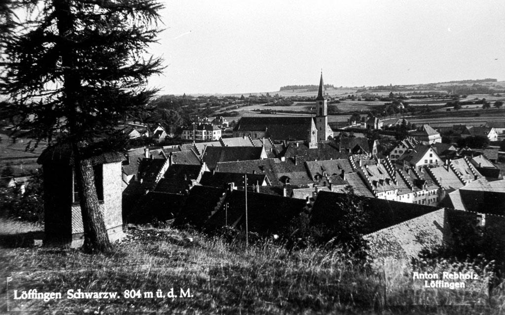 Blick vom Alenberg auf das Städtchen, ca. 1950