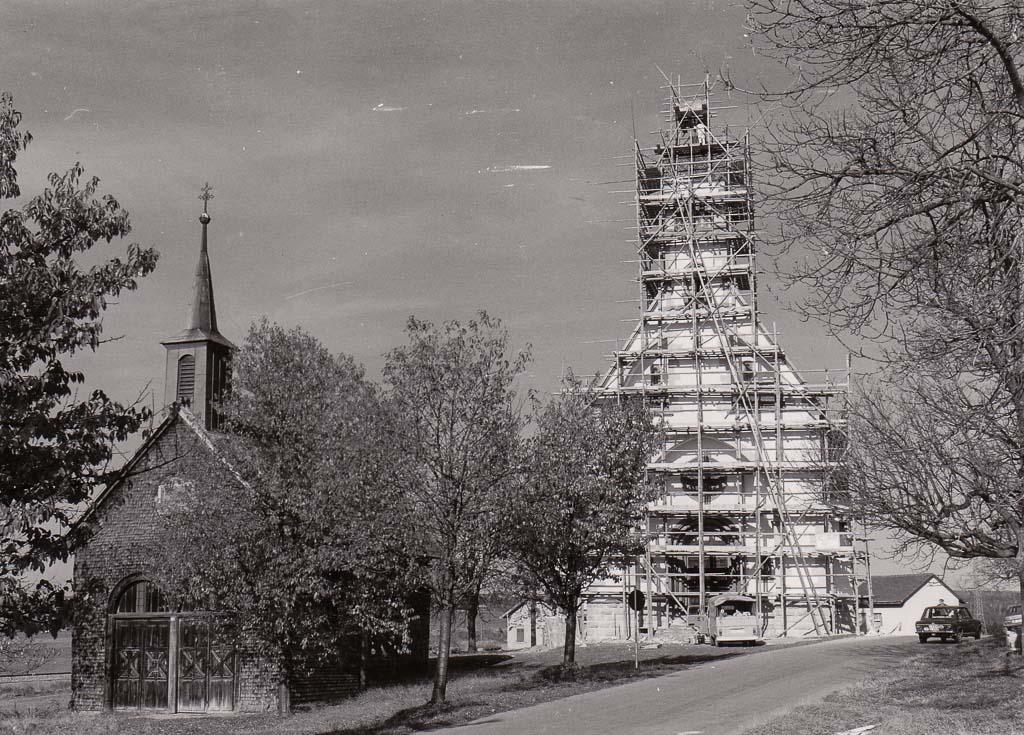 2 Fotos: Renovierung der Witterschneekirche, 1977/78