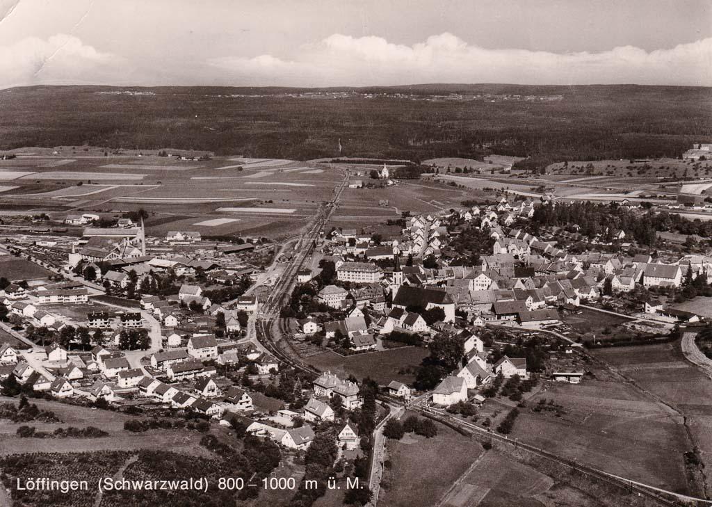 Luftbild in Richtung Nordwest, ca. 1966