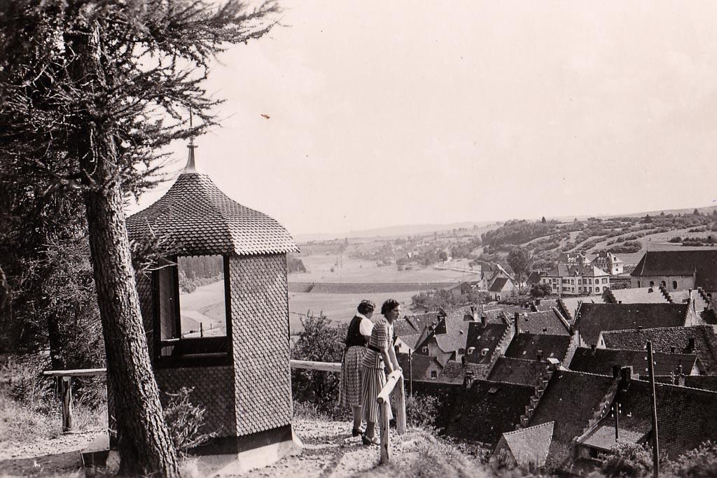 Blick vom Alenberg auf das Städtchen, ca. 1935