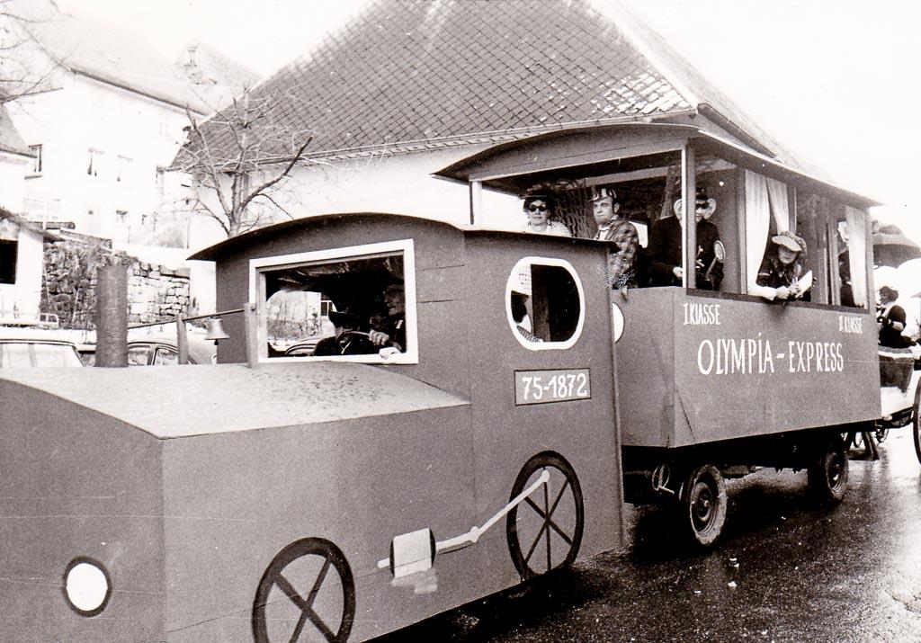 »Olympia-Express« in der Oberen Hauptstraße, ca. 1972