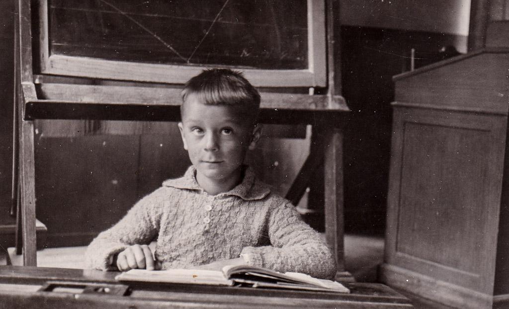 Franz Rosenstiel in der Volksschule, 1933