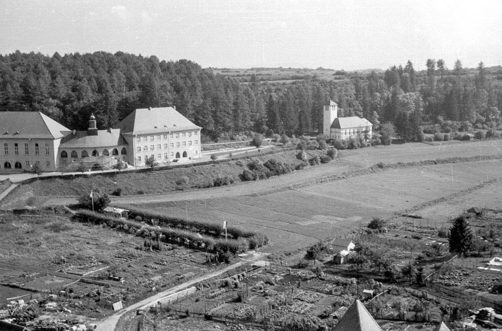 Blick vom Kirchturm zur »Hasle«, 1961