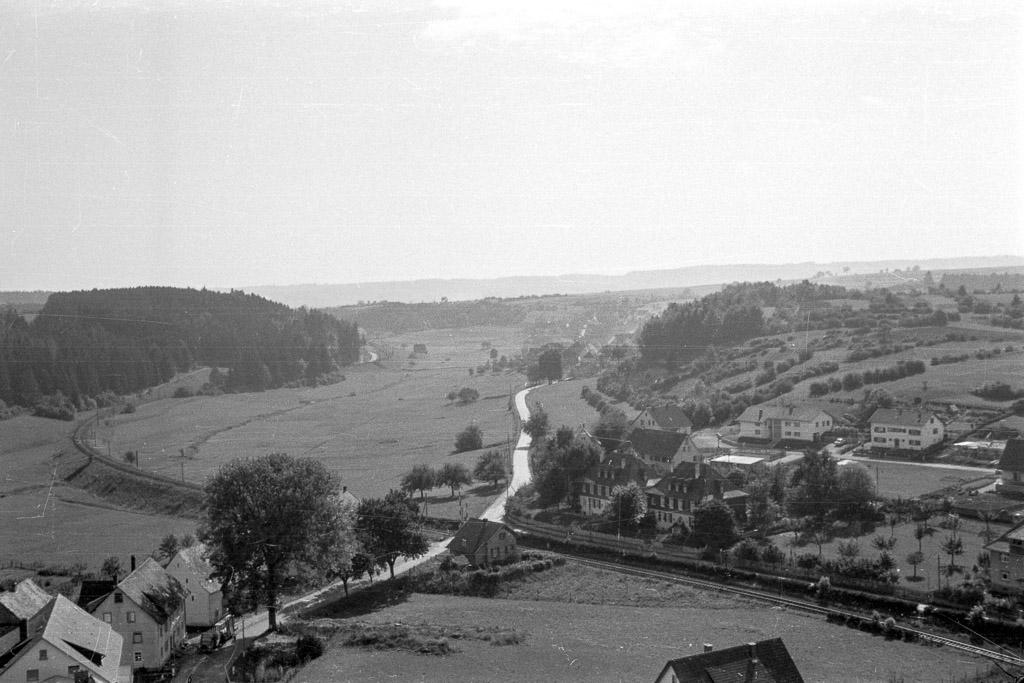 Blick vom Kirchturm in Richtung Seppenhofen, 1961