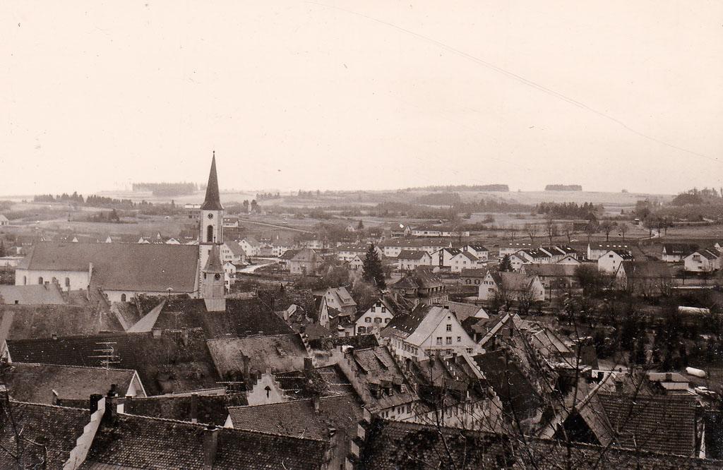 Blick vom Alenberg auf das Städtchen, ca. 1969