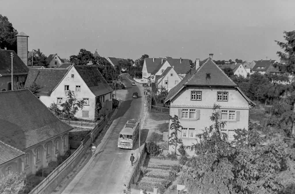 Blick in die Obere Hauptstraße, ca. 1957