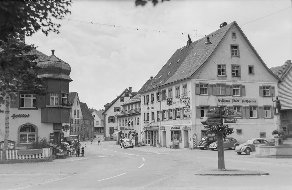 Blick in die Untere Hauptstraße, ca. 1955
