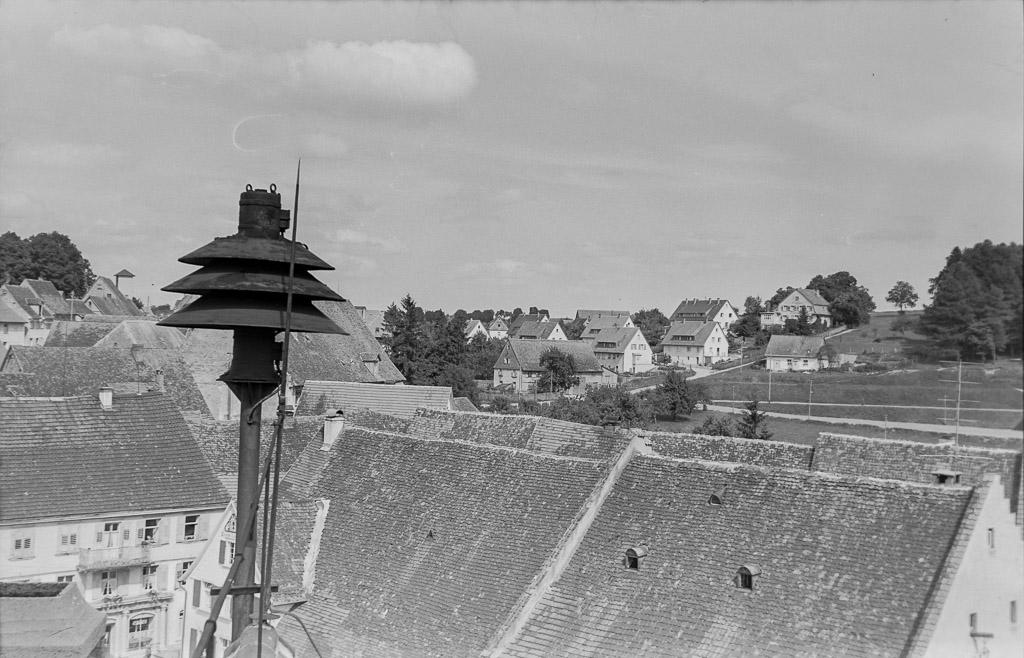 Sirene auf dem Rathausdach, ca. 1955