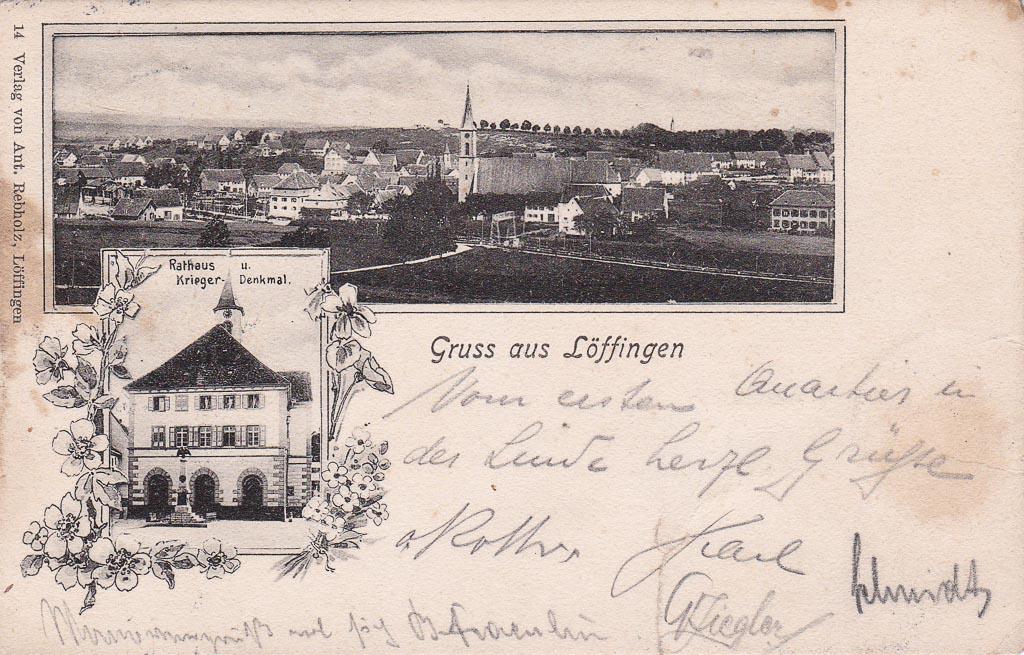 Mehrbildkarte mit zwei Ansichten, ca. 1901-1906