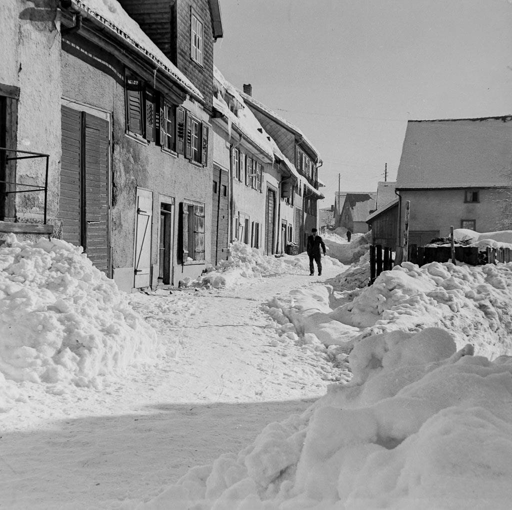 Schneeberge in der Vorstadtstraße, ca. 1960