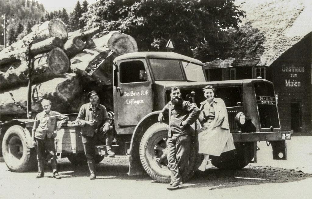 Langholztransport für das Sägewerk Benz in Todtmoos, ca. 1935